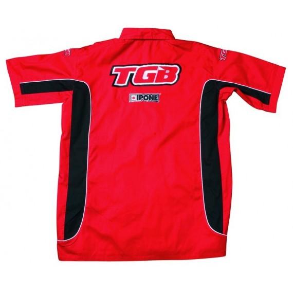 TGB chemise rouge noir
