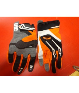 Gants First racing orange noir