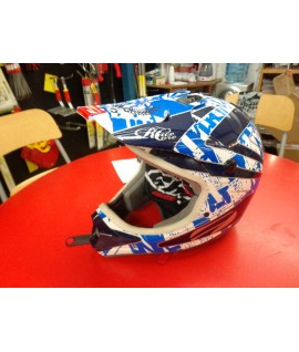 Casque cross First racing Bleu blanc L