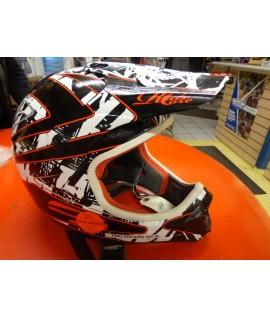 Casque cross First racing noir rouge et blanc XL