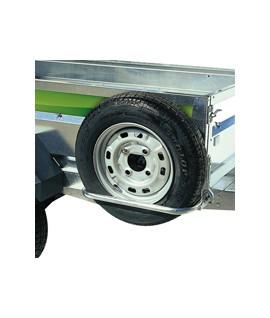 Support roue de secours remorque